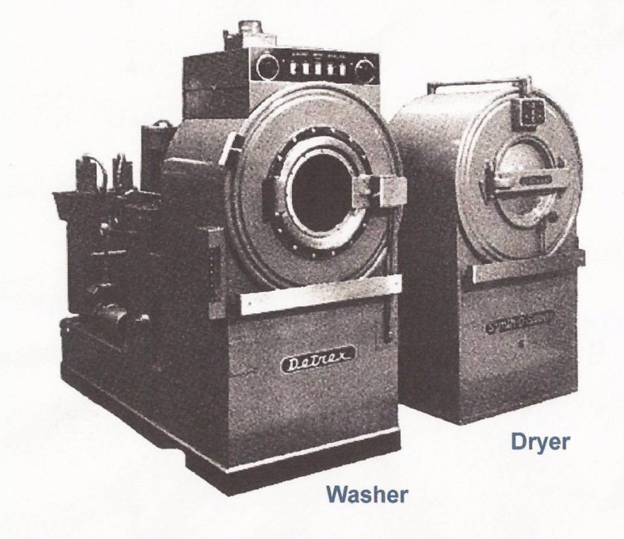 1st generation drycleaning machine with separate washer and dryer